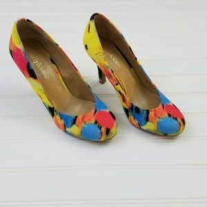 Katie & Kelly Floral Fabric Pumps size 7